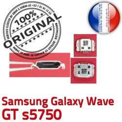 à Dock Connecteur ORIGINAL Pins USB s5750 Prise Galaxy Samsung Chargeur Connector GT Wave souder C Dorés Flex charge Micro de