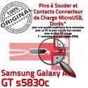 Samsung Galaxy ACE GT s5830c C souder de Dorés charge Pins Micro Chargeur ORIGINAL Dock Connecteur à USB Prise Connector Flex