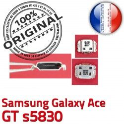 Ace GT Prise s5830 ORIGINAL Dock à charge C Pins Chargeur Dorés Micro souder de USB Galaxy Connector Samsung Flex Connecteur