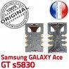 Samsung Galaxy Ace GT s5830 S SLOT SIM Reader souder Connector Card à Pins ORIGINAL Prise Dorés Carte Connecteur Lecteur Contacts