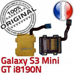 Qualité GT-i8190N Micro-SD Nappe Lecteur Connecteur Connector S3 Carte Contact Mini Samsung ORIGINAL Doré Galaxy Read Memoire SD