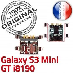 Connector à ORIGINAL Chg Galaxy Mini de Pins GT-i8190 Dock Connecteur Samsung Prise S3 charge Micro Chargeur Dorés Flex souder USB