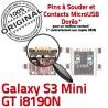 Samsung Galaxy S3 GT i8190N C Dorés Prise ORIGINAL de USB Connector Chargeur Flex Connecteur Pins à Mini Micro Dock charge souder