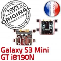 Prise Galaxy S3 de ORIGINAL Dorés USB Flex Mini GT-i8190N Pins Connector Chargeur Dock à Connecteur Micro Samsung souder charge Chg
