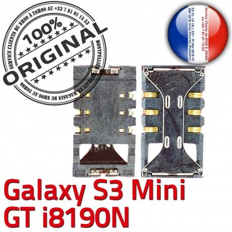 Samsung Galaxy S3 Mini GT i8190N Connector Card Lecteur SLOT Pins à Contacts Reader Carte Connecteur ORIGINAL Dorés SIM souder