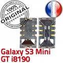 Samsung Galaxy S3 Min GT i8190 S Mini Card Pins souder Reader Lecteur Contacts Carte Connector à SLOT Connecteur SIM Dorés ORIGINAL