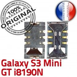 Contacts Connector GT-i8190N SLOT Galaxy à Carte Mini S3 Dorés SIM ORIGINAL Samsung Card Connecteur Lecteur Reader Pins souder