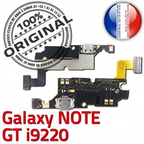 Samsung Galaxy NOTE GT i9220 C Nappe RESEAU ORIGINAL Qualité Microphone Connecteur Antenne OFFICIELLE Charge MicroUSB Prise Chargeur