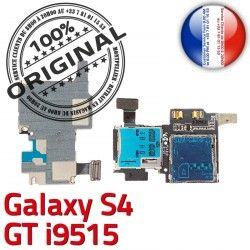 SIM Memoire S4 Carte Galaxy Connector ORIGINAL GT Connecteur Micro-SD Samsung Qualité S Nappe Reader Dorés Lecteur i9515 Contacts