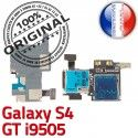 ORIGINAL Samsung Galaxy S4 GT i9505 Lecteur Carte Memoire SIM Micro-SD Connecteur Contacts Dorés Reader Connector Nappe Qualité