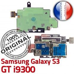 Nappe i9300 GT Galaxy Qualité ORIGINAL S S3 Carte Reader Lecteur Memoire SIM Dorés Connector Samsung Connecteur Micro-SD Contacts