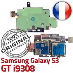 Qualité i9308 Lecteur Connecteur Reader Carte Contacts Connector ORIGINAL GT Micro-SD Samsung Nappe SIM Dorés Memoire S3 Galaxy S