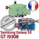 Samsung Galaxy S3 GT i9308 S ORIGINAL Qualité Lecteur Memoire Contacts Nappe Connecteur Connector Micro-SD Reader SIM Dorés Carte