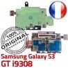 Samsung Galaxy S3 GT i9308 S ORIGINAL Qualité Lecteur Memoire Contacts Nappe Connecteur Connector Micro-SD Reader SIM Dorés Carte