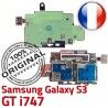 Samsung Galaxy S3 GT i747 S Memoire Dorés Qualité Reader Nappe SIM Connector Carte Micro-SD Lecteur ORIGINAL Contacts Connecteur
