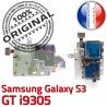 Samsung Galaxy S3 GT i9305 S SIM Reader Connector ORIGINAL Carte Nappe Micro-SD Qualité Connecteur Memoire Dorés Lecteur Contacts