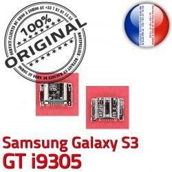 à de Galaxy Pins S3 Dock souder USB ORIGINAL Chargeur i9305 Prise Micro Flex Dorés Samsung Connecteur C GT charge Connector