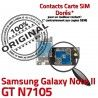 Samsung Galaxy NOTE2 GT N7105 S ORIGINAL Micro-SD Nappe Contact Doré Reader Carte Lecteur II Connecteur SIM Qualité Memoire NOTE Connector
