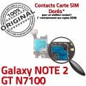 Samsung Galaxy NOTE 2 GT-N7100 S ORIGINAL Reader SD SIM Nappe Connecteur Carte Doré Qualité Connector Contact Memoire Lecteur