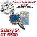 Samsung Galaxy S4 GT i9500 S Nappe SIM Memoire Qualité Contacts ORIGINAL Carte Connecteur Lecteur Connector Reader Dorés Micro-SD