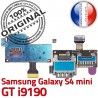 Samsung Galaxy S4 min GT i9190 S Contacts SIM Reader Dorés Lecteur mini Memoire ORIGINAL Connecteur Nappe Carte Connector Micro-SD