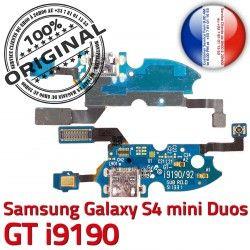 MicroUSB Galaxy RESEAU Charge Samsung Nappe Min ORIGINAL Prise Antenne GT GTi9190 9190 Microphone Qualité C OFFICIELLE Chargeur S4 Connecteur