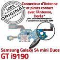 Samsung S4 Min GTi9190 C Galaxy Qualité Nappe Chargeur RESEAU GT OFFICIELLE MicroUSB 9190 Connecteur Antenne ORIGINAL Microphone Charge Prise