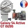 Samsung Galaxy S4 Activ i9295 S Dorés Memoire Qualité Nappe Carte GT Contacts Lecteur Connector SIM Connecteur ORIGINAL Micro-SD Reader