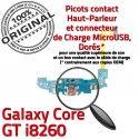 Samsung Galaxy Core GT i8260 C Prise OFFICIELLE MicroUSB Charge Qualité Connecteur ORIGINAL Microphone RESEAU Nappe Chargeur Antenne
