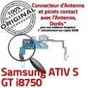 Samsung ATIV S GT i8750 C Qualité Microphone ORIGINAL Chargeur RESEAU Charge Prise Nappe Connecteur OFFICIELLE MicroUSB Antenne
