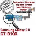Samsung Galaxy S2 GT i9100 C MicroUSB ORIGINAL Nappe Chargeur RESEAU Charge OFFICIELLE Microphone Qualité Connecteur Prise Antenne