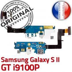 OFFICIELLE C S2 Microphone Connecteur RESEAU Charge i9100P ORIGINAL Samsung Nappe MicroUSB Chargeur Prise GT Qualité Antenne Galaxy