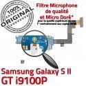 Samsung Galaxy S2 GT i9100P C RESEAU ORIGINAL Nappe Qualité MicroUSB Charge Antenne Connecteur OFFICIELLE Chargeur Prise Microphone