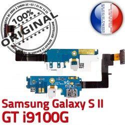Prise OFFICIELLE Nappe Connecteur Microphone ORIGINAL Antenne Galaxy GT MicroUSB S2 Samsung C Qualité i9100G Charge Chargeur RESEAU