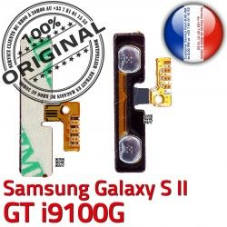 à Galaxy V Bouton Samsung 2 Connector Son Nappe GT Pins i9100G ORIGINAL S Switch Contacts Circuit Dorés S2 souder Volume SLOT OR Connecteur