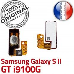 OR ORIGINAL SLOT à P Bouton Connecteur Galaxy Connector Pin Marche Circuit Samsung i9100G GT Switch souder S2 Dorés Contacts Nappe 2 S Arrêt