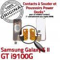 Samsung Galaxy S2 GT i9100G P Switch Marche à souder Bouton S Arrêt Connecteur Contacts Pin Connector Nappe SLOT Dorés 2 ORIGINAL OR Circuit