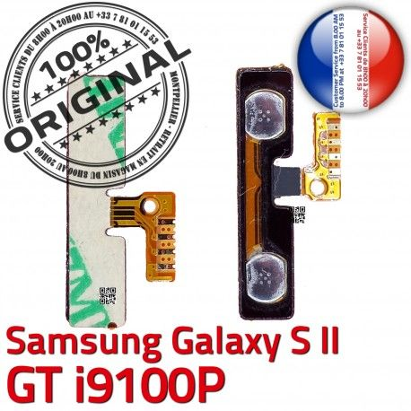 Samsung Galaxy S2 GT i9100P V à SLOT Contacts Bouton Nappe ORIGINAL Circuit Connecteur Volume Connector souder Son S Dorés 2 OR Pins Switch