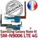 Samsung Galaxy NOTE3 SM N9006 C Charge Nappe RESEAU Antenne Connecteur LTE ORIGINAL Chargeur Microphone Qualité OFFICIELLE MicroUSB