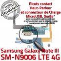 Samsung Galaxy NOTE3 SM N9006 C OFFICIELLE RESEAU ORIGINAL LTE Antenne MicroUSB Nappe Microphone Qualité Chargeur Charge Connecteur