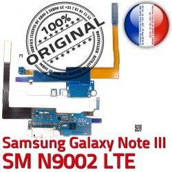 NOTE3 Antenne Microphone Samsung Charge Chargeur RESEAU ORIGINAL Connecteur C OFFICIELLE Galaxy Nappe SM MicroUSB N9002 LTE Qualité