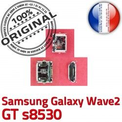 s8530 Micro de Connecteur Galaxy à Flex Chargeur USB Dock Connector Prise ORIGINAL C Dorés Wave2 GT Pins charge Samsung souder