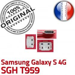 souder Galaxy de Connecteur Connector Prise Flex ORIGINAL SGH Pins T959 Samsung à S USB Dorés charge Micro Chargeur Dock C 4G