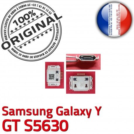 Samsung Galaxy Y GT s5630 C Flex Dock de Connector Prise Pins à Chargeur charge Connecteur ORIGINAL Dorés Micro souder USB