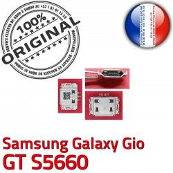 Gio Samsung souder de GT USB Pins Dock Dorés Connecteur charge Galaxy ORIGINAL Flex Micro s5660 C à Connector Prise Chargeur