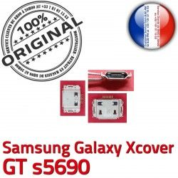 Connecteur s5690 Pins à GT Dock charge Flex Galaxy souder Connector C Chargeur Dorés Prise Xcover USB ORIGINAL Samsung de Micro