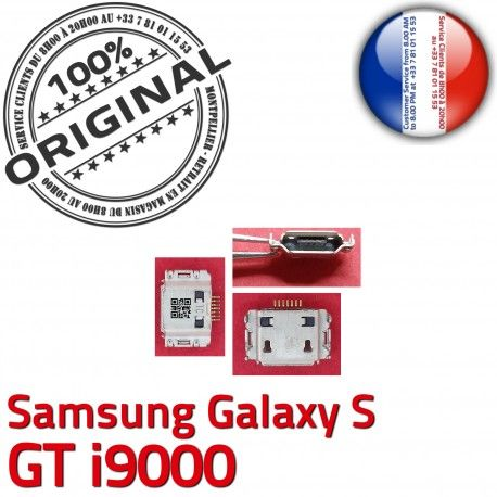 Samsung Galaxy S GT i9000 C à ORIGINAL Dock charge Connecteur Connector de Micro Chargeur Pins Dorés USB souder Flex Prise