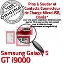 Samsung Galaxy S GT i9000 C Connecteur ORIGINAL de Micro souder Dock Pins charge Prise Dorés USB Flex à Connector Chargeur