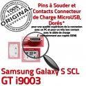 Samsung Galaxy S SCL GT i9003 C USB Prise Chargeur charge ORIGINAL Connector Pins à Dock Flex Dorés Connecteur Micro souder de