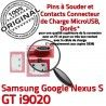 Samsung Google Nexus GT i9020 C Chargeur S ORIGINAL Prise Micro USB à Dock de Pins charge Flex Connecteur Dorés Connector souder